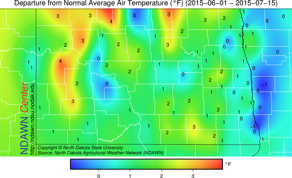 Average Temperature from June 1 through July 15