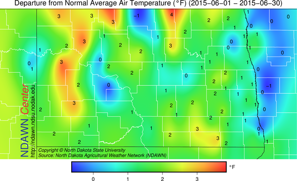 Figure 4:  Temperature Anomalies for  June 2015