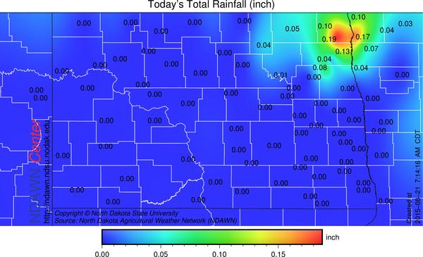 Rain from midnight through 8:00 AM