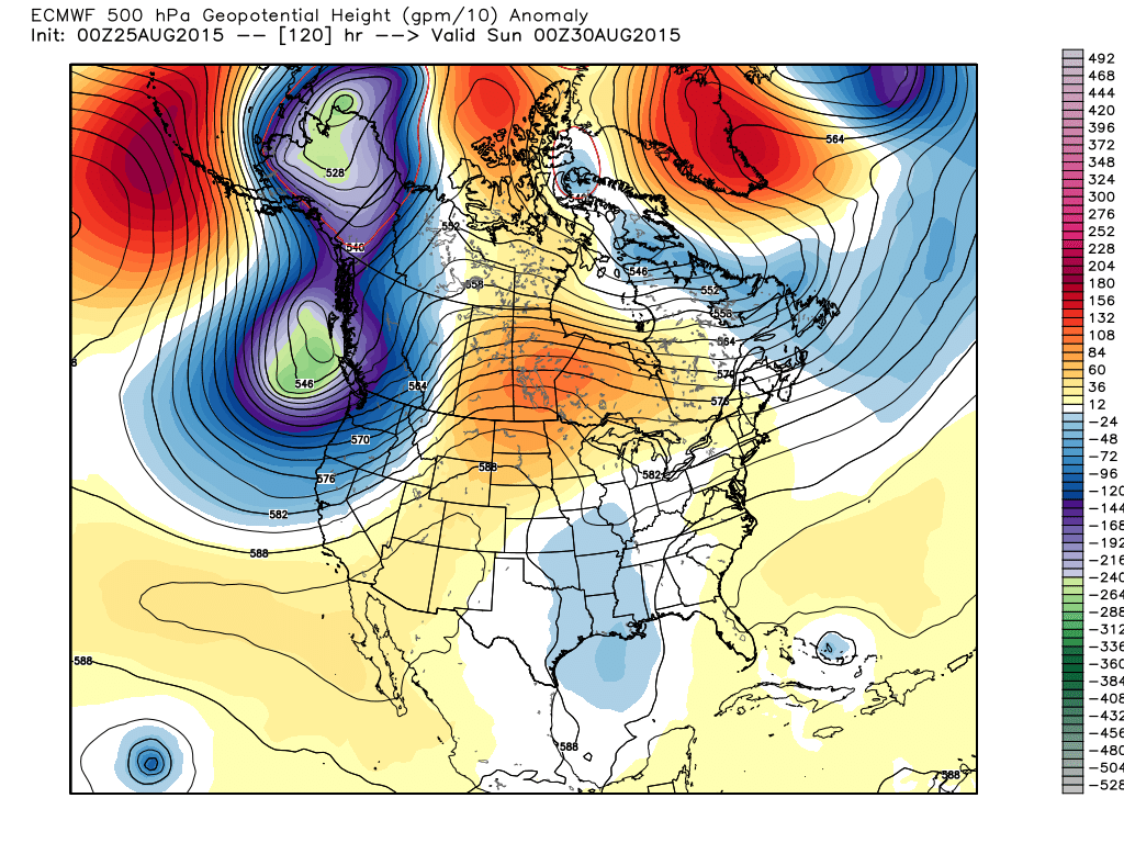 7:00 PM Saturday August 29, 2015 500 mb heights/anomalies from ECMWF WMO-essential