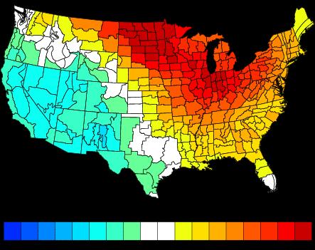 December Temperature Analog