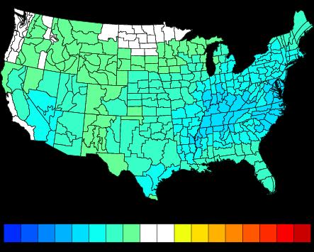 October Temperature Analog