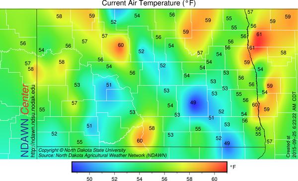 6:30 AM Temperatures