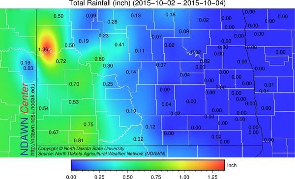 October 2-4, 2015 Rain Totals