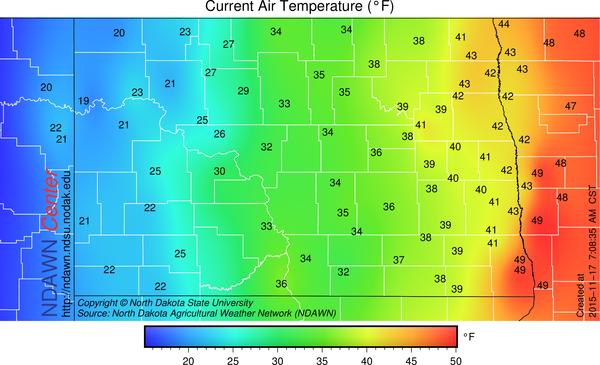 7:00 AM Temperatures
