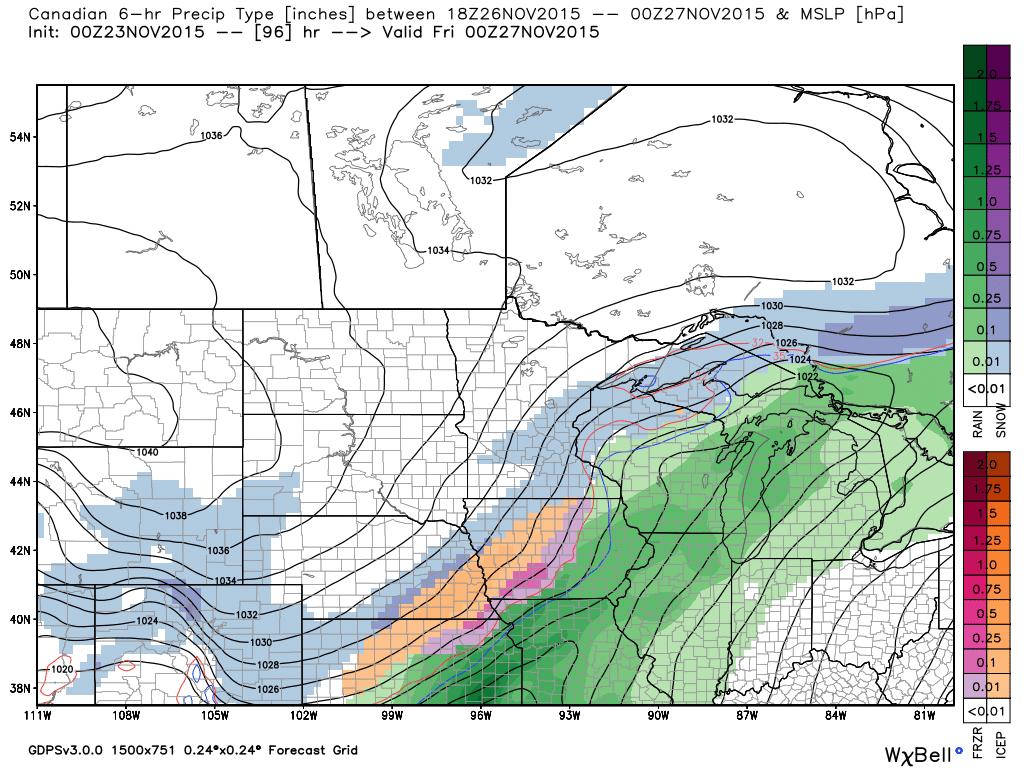 Thursday, 6 PM Surface Analysis with Precipitation
