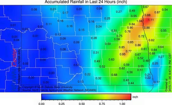 November 5, 2015 Rain Totals