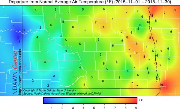 November 2015 Temperature Anomaly