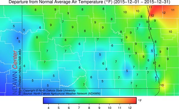 December 2015 Average Temperature Anomaly