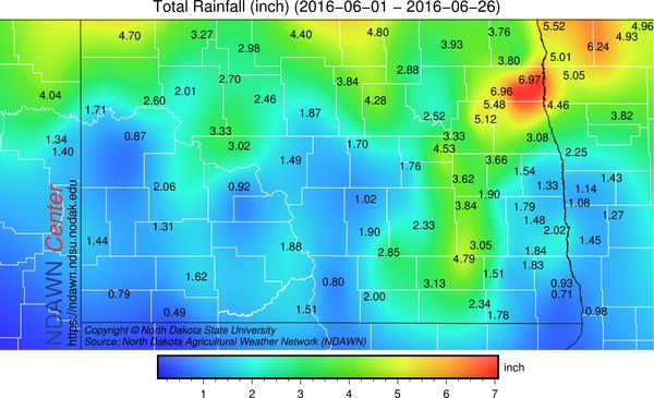 June 2016 Rain Totals