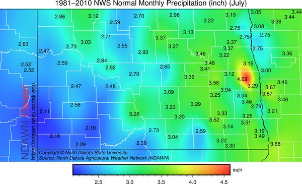 July Average Rain
