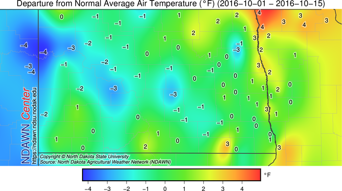 Temperature Departures from Normal