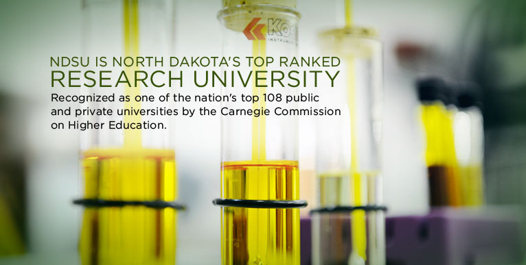 NDSU is North Dakota's top ranked research university