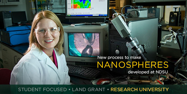 New process to make nanospheres developed at NDSU