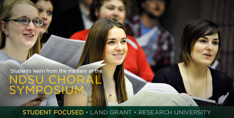 Students learn from the masters at the NDSU Choral Symposium