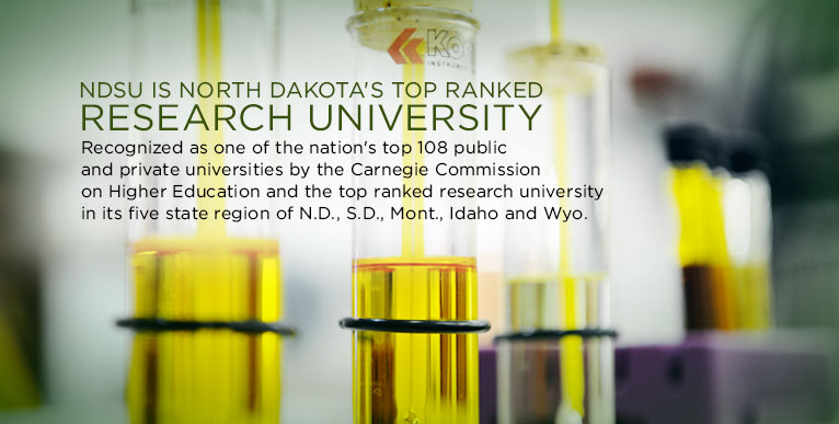NDSU reaches top national rank of Carnegie Commission on Higher Education.