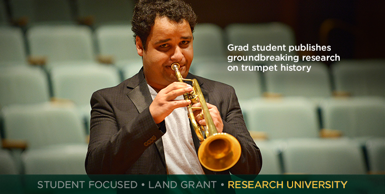 NDSU grad student uncovers history of trumpet in Brazilian music