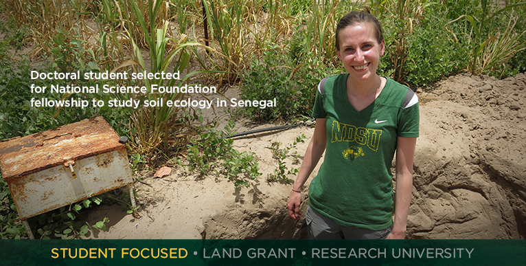 Doctoral student selected for National Science Foundation fellowship to study soil ecology in Senegal