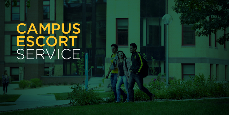 Campus Escort Service is provided by the University Police and Safety Office, click for more information