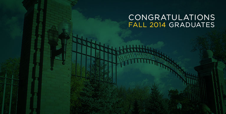 Area students receive degrees from NDSU, fall 2014