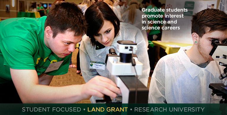 Graduate students promote interest in science and science careers