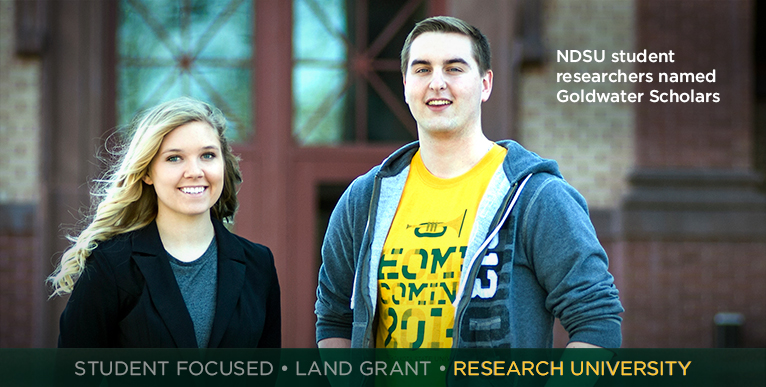 NDSU student researchers named Goldwater Scholars