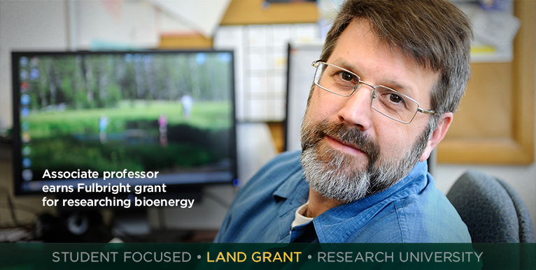Associate professor earns Fulbright grant for researching bioenergy