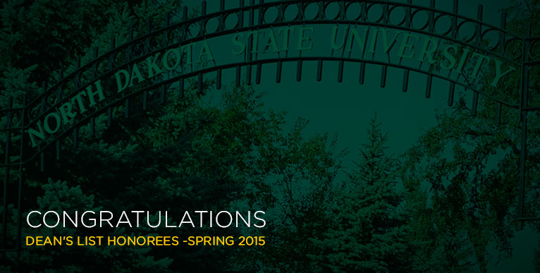 Congratulations Dean's List Honorees - Spring 2015