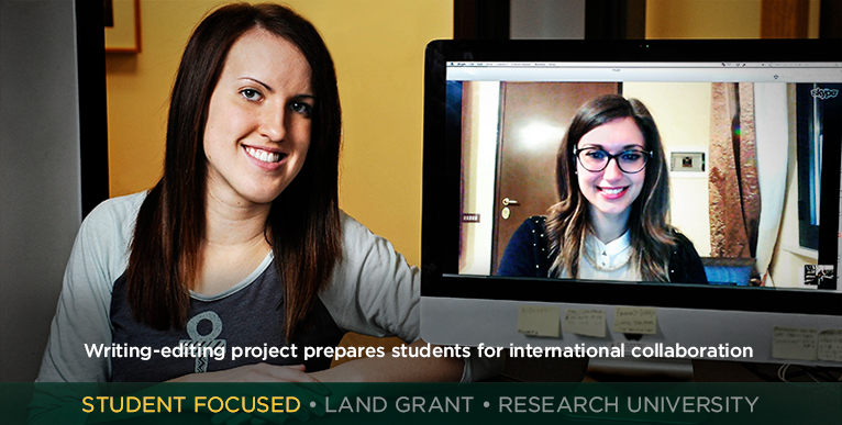 Writing-editing project prepares students for international collaboration