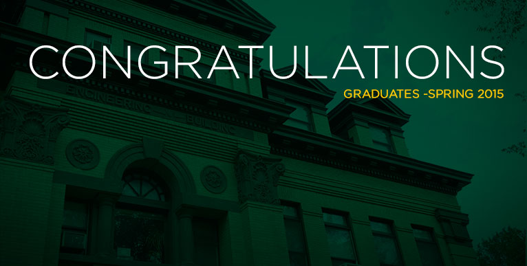 Area students receive degrees from NDSU, spring 2015