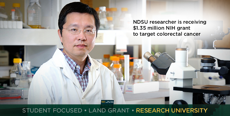 NDSU researcher is receiving $1.35 million NIH grant to target colorectal cancer