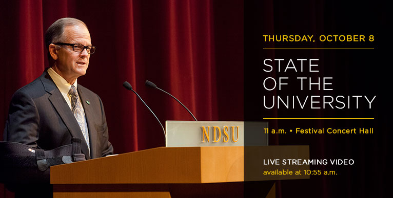 State of the University Address 2015 - Thurs., Oct. 8 - live streaming video available at 10:55 a.m.