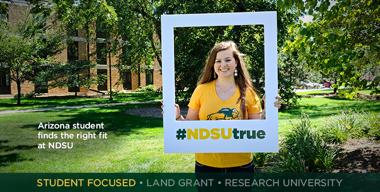 Arizona student finds the right fit at NDSU