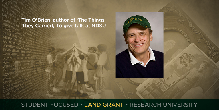 Tim O�Brien, author of �The Things They Carried,� to give talk at NDSU