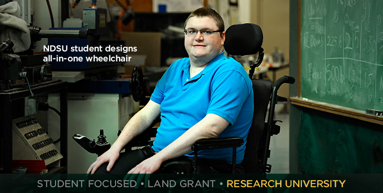 NDSU student designs all-in-one wheelchair