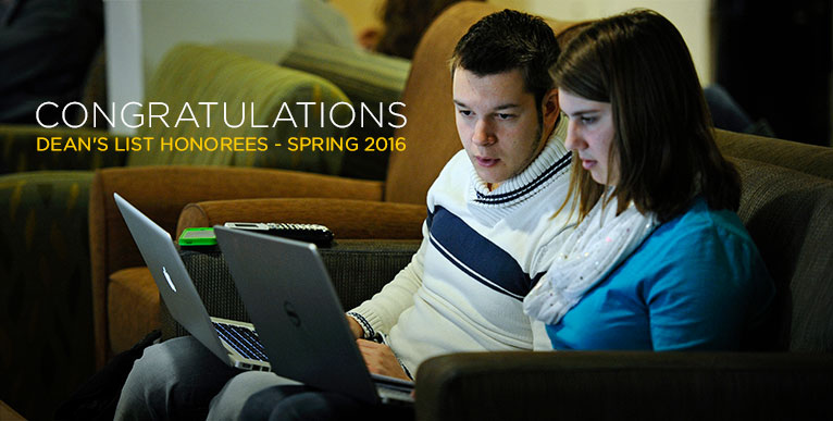 Congratulations Dean's List Honorees - Spring 2016