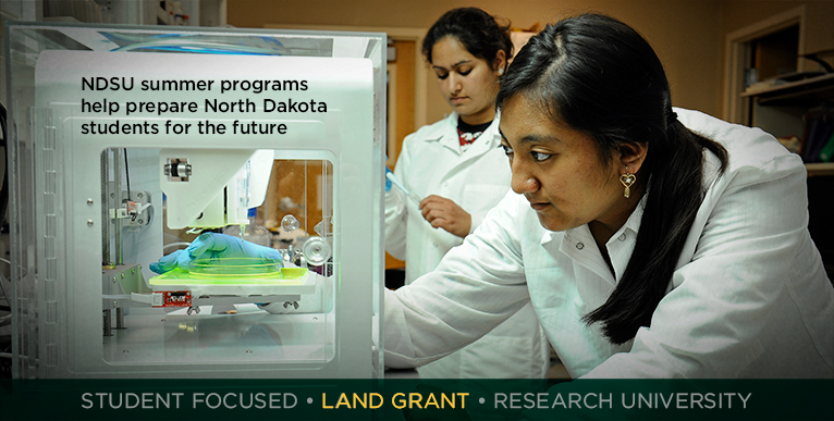 NDSU summer programs help prepare North Dakota students for the future