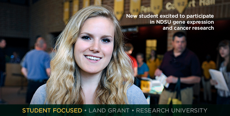 New student excited to participate in NDSU gene expression and cancer research