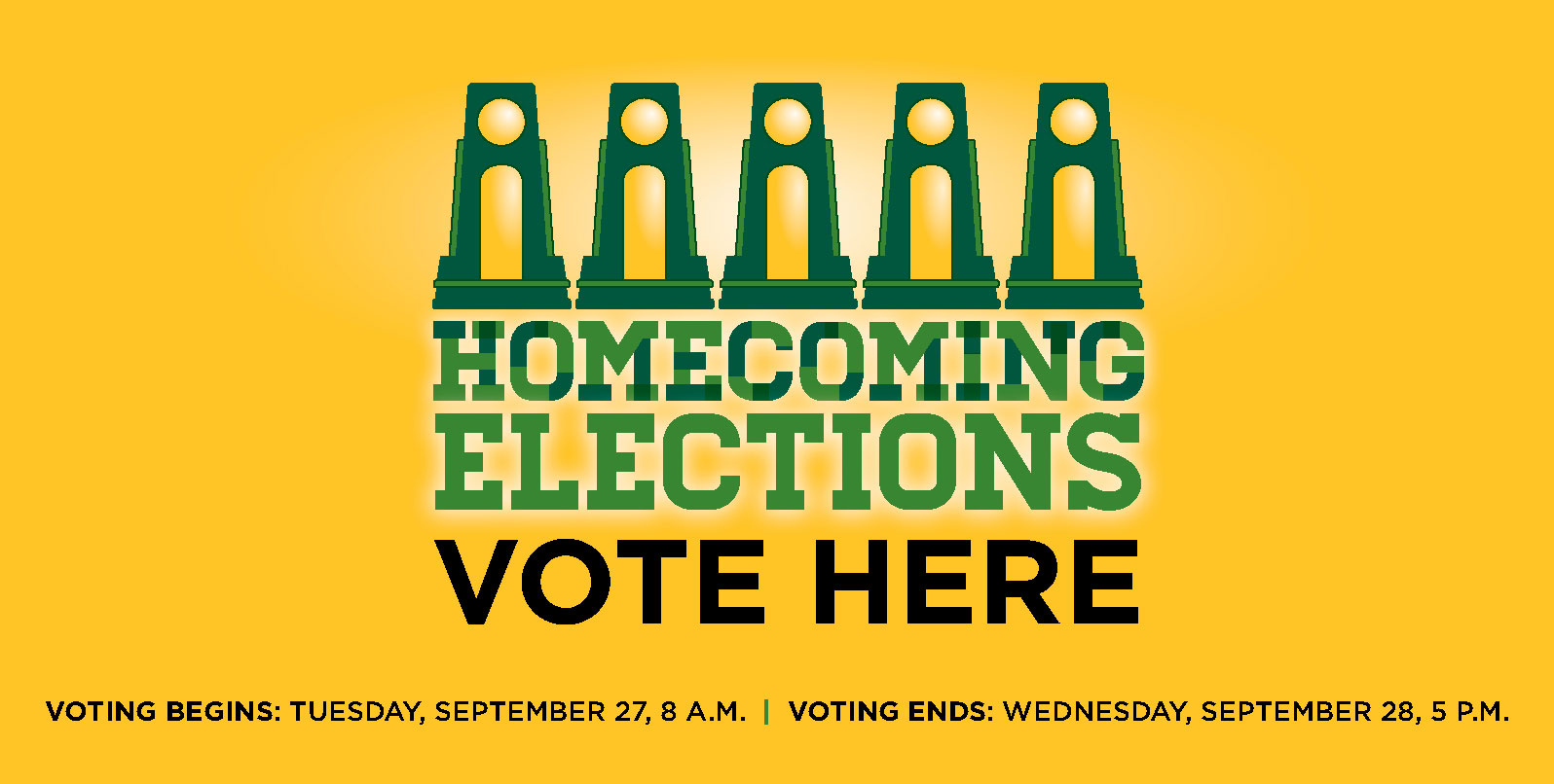 Homecoming Elections 2016, vote here September 27 - 28