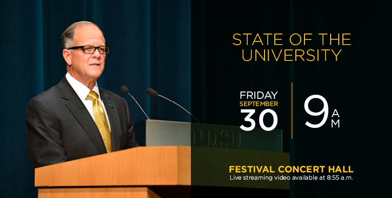 State of the University Address 2016 - Fri., Sept. 30 - live streaming video available at 8:55 a.m.