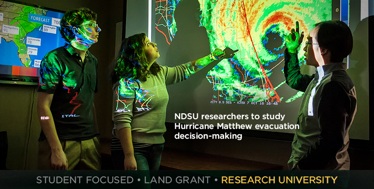 NDSU researchers to study Hurricane Matthew evacuation decision-making