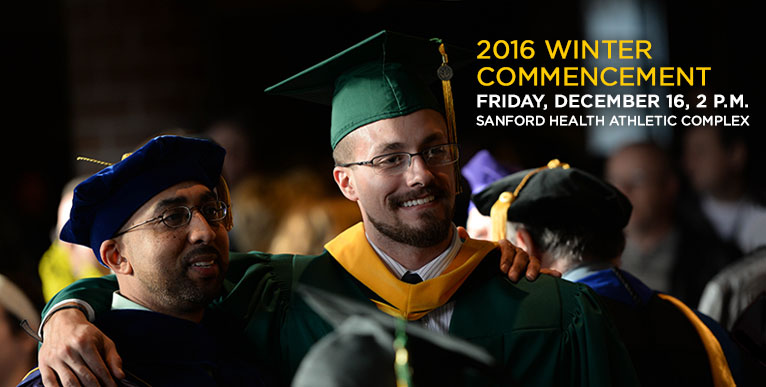 2016 Winter Commencement - December 16, 2 p.m. - click for more information
