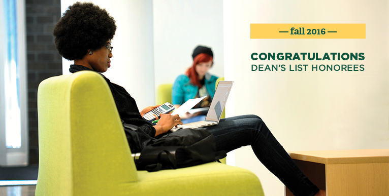 Congratulations Dean's List Honorees - Fall 2016