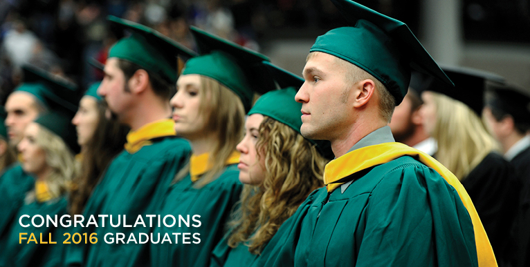 Congratulations Graduates - Fall 2016