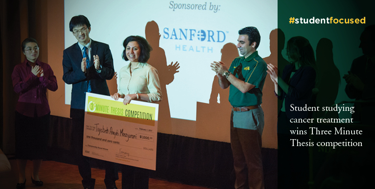 Student studying cancer treatment wins Three Minute Thesis competition