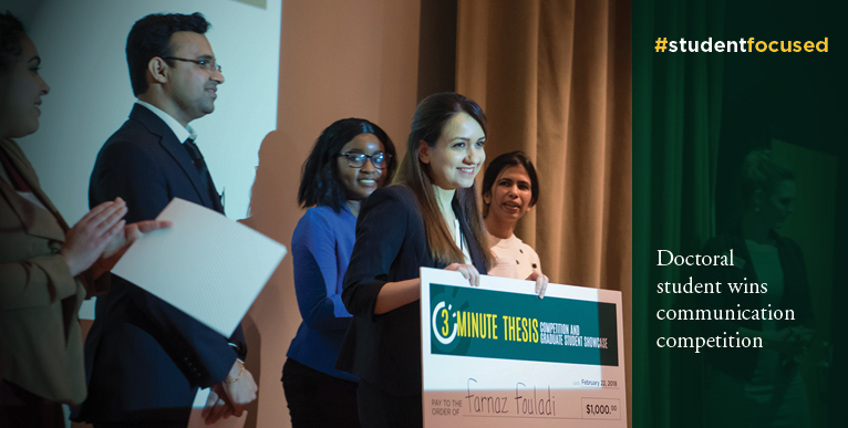 Doctoral student wins communication competition