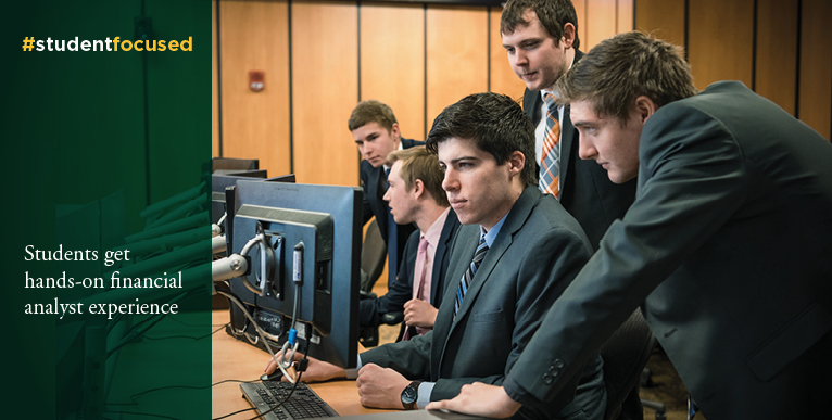 Students get hands-on financial analyst experience