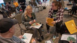 students role-playing in a poverty simulation