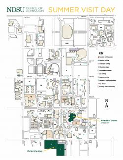 ndsu summer visit day map