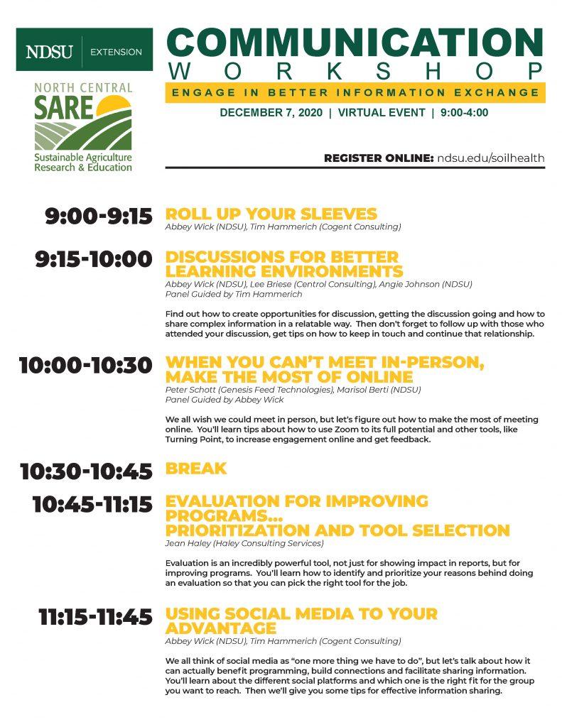 workshop flyer and agenda
